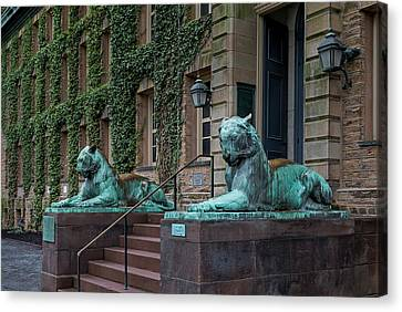 Princeton University Nassau Hall Tigers Canvas Print by Susan Candelario