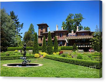Princeton University Prospect Gardens And House Canvas Print by Olivier Le Queinec