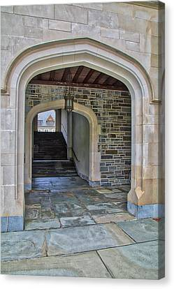 Princeton University Whitman College Arches Canvas Print by Susan Candelario