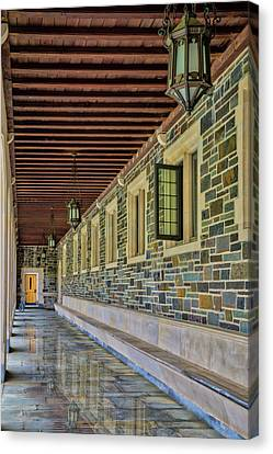 Princeton University Whitman College Hallway Canvas Print by Susan Candelario
