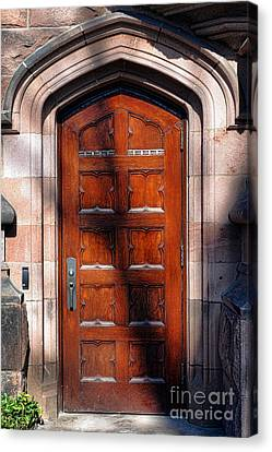 Princeton University Wood Door  Canvas Print by Olivier Le Queinec