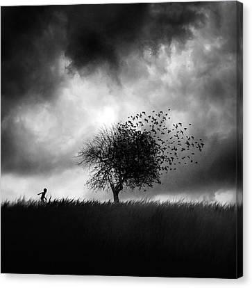 Printemps Perdu Canvas Print by Sebastien Del Grosso
