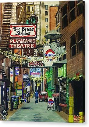 Printer's Alley Canvas Print by Jamie Erwin