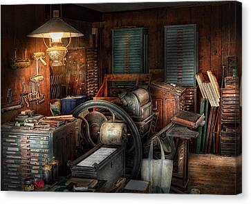 Printing - Stop The Presses  Canvas Print by Mike Savad