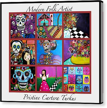 Prisarts Paintings Canvas Print by Pristine Cartera Turkus