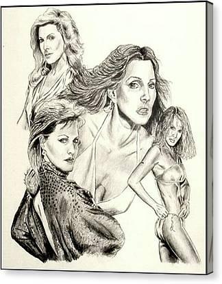 Priscilla Presley Montage Canvas Print