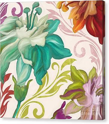 Art Nouveau Style Canvas Print - Prism Poetry Art Nouveau Pattern by Mindy Sommers