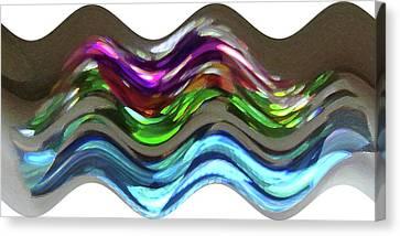 Canvas Print featuring the digital art Prism Waves by Ellen Barron O'Reilly