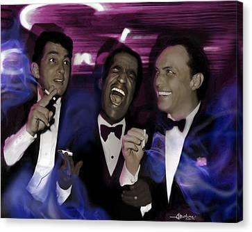 Prismatic Rat Pack Canvas Print by Christine Mayfield