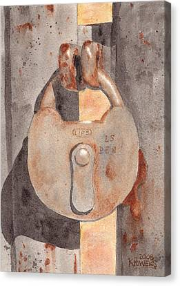 Prison Lock Canvas Print by Ken Powers