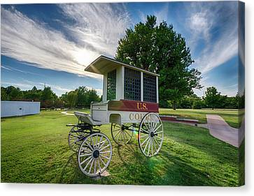 Canvas Print featuring the photograph Prison Wagon by James Barber