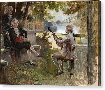 Private Concert Canvas Print by Albert Edelfelt