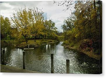 Canvas Print featuring the photograph Private Dock by Kathleen Stephens