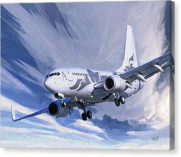 Private Jet M-ybbj Canvas Print
