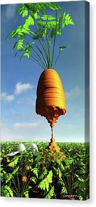Carrot Canvas Print - Prizewinner by Cynthia Decker