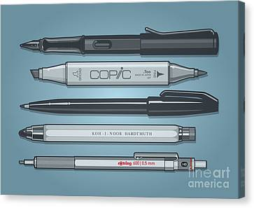 Technical Canvas Print - Pro Pens by Monkey Crisis On Mars