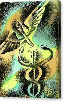Problems Of Healthcare Canvas Print by Leon Zernitsky