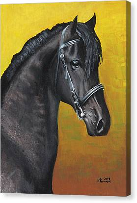 Forelock Canvas Print - Professional Elegance by Kayleigh Semeniuk