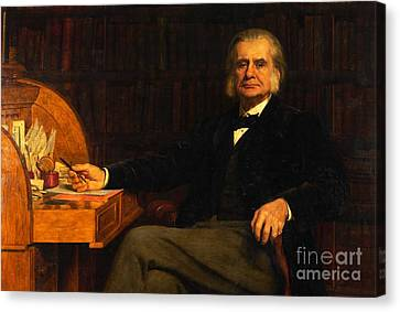 Collier Canvas Print - Professor Thomas Henry Huxley by MotionAge Designs