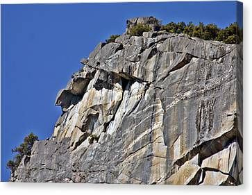 Looking To The Sky Canvas Print - Profile In Granite by Duncan Pearson