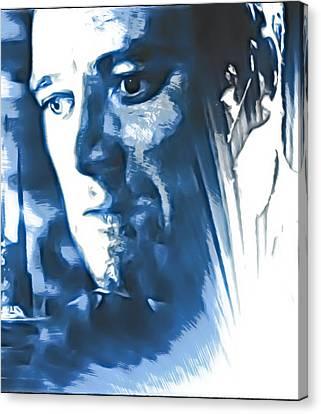 Profile Of An Eccentric Doctor Canvas Print by Mario Carini