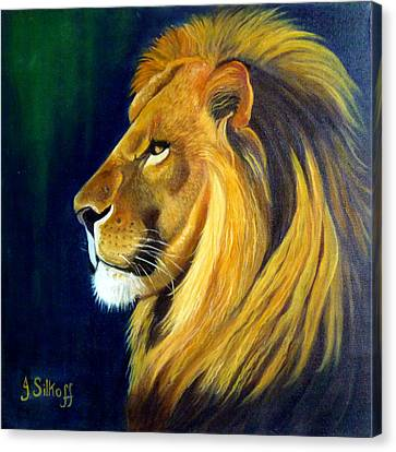 Profile Of The King Canvas Print by Janet Silkoff