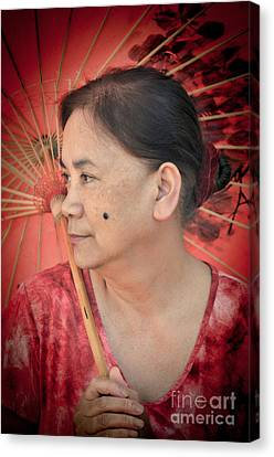 Filipina Canvas Print - Profile Portrait Of A Freckle Faced Filipina With A Mole On Her Cheek  by Jim Fitzpatrick