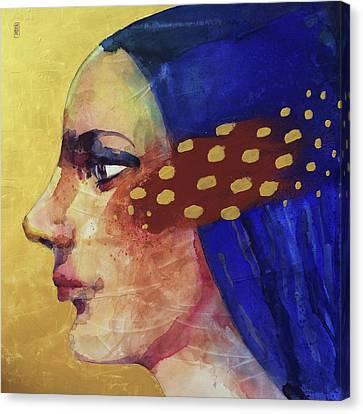 Profilo Di Donna Canvas Print by Alessandro Andreuccetti