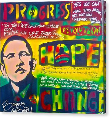 Progress Canvas Print by Tony B Conscious