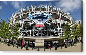 Canvas Print featuring the photograph Progressive Field by Dale Kincaid