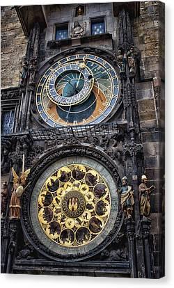 Progue Astronomical Clock Canvas Print