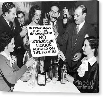 Prohibition Ends Let's Party Canvas Print