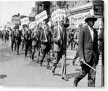 Prohibition Protest March Canvas Print by Jon Neidert