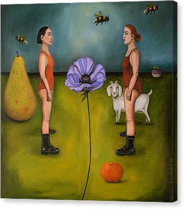Project X In The Garden Canvas Print by Leah Saulnier The Painting Maniac