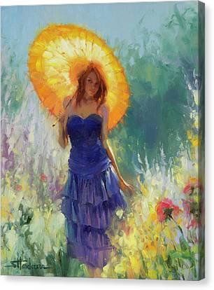 Blue Dress Canvas Print - Promenade by Steve Henderson