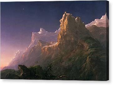 Prometheus Bound  Canvas Print by Thomas Cole