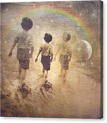 Phases Of The Journey--the Promise Of The Rainbow Canvas Print