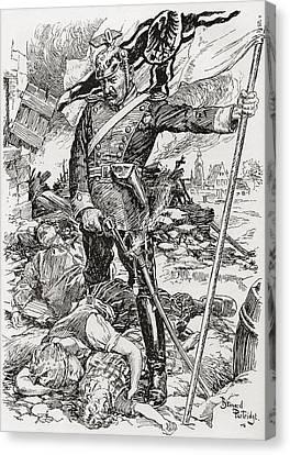 Propaganda Illustration Entitled The Canvas Print by Vintage Design Pics