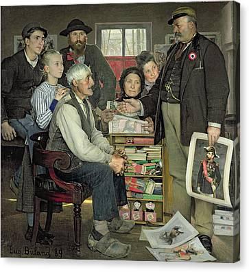 Interior Scene Canvas Print - Propaganda by Jean Eugene Buland
