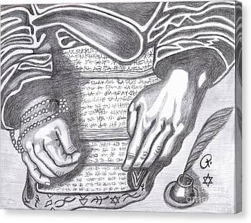 Prophesy Canvas Print by Richard Heyman