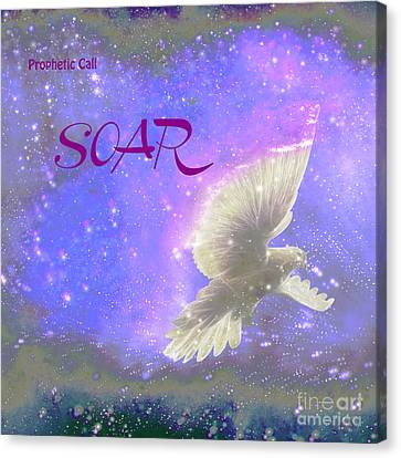 Prophetic Call Soar Canvas Print by Beverly Guilliams