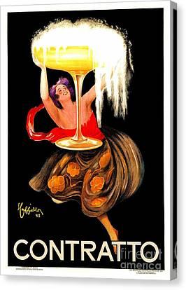 Prosecco Contratto Leonetto Cappiello Canvas Print by Heidi De Leeuw