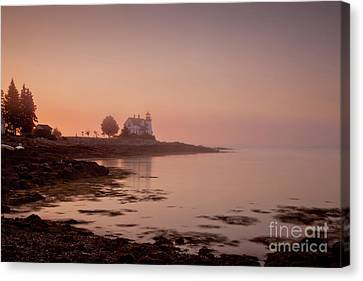 Prospect Harbor Dawn Canvas Print by Susan Cole Kelly
