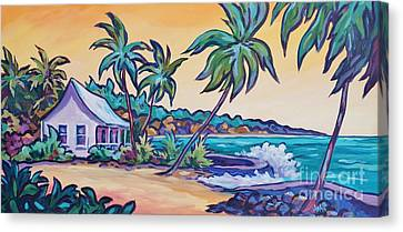 Tropical Colors Stain Glass Canvas Print - Prospect Reef by John Clark