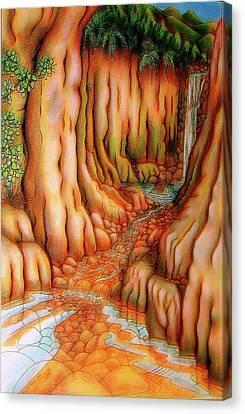 Prosperity Waterfall 1 Canvas Print by Barbara Stirrup