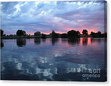 Prosser Pink Sunset 5 Canvas Print by Carol Groenen