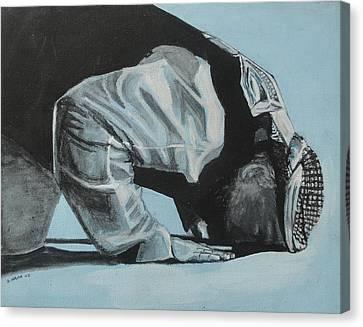 Prostration In Palestine Canvas Print by Salwa  Najm