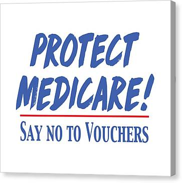 Canvas Print featuring the drawing Protect Medicare by Heidi Hermes