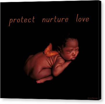 Protect Nurture Love Canvas Print