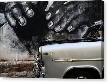 Street Shot Canvas Print - Protection by Yuri Santin